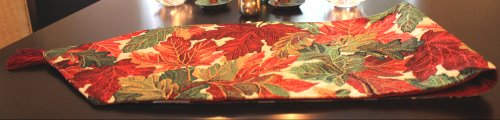 Tache Tapestry Warm Colorful Thanksgiving Leaves Fall Foliage Table Runners front-427961