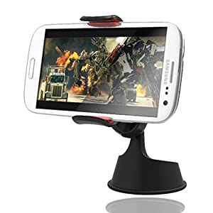 Exogear ExoMount 2 Car Dashboard Mount Holder Cradle Dock for iPhone 5/5S/4S, Samsung Galaxy S4/S3, HTC One X and Droid LG GPS (Black)