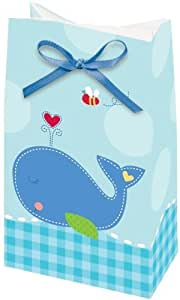ahoy baby boy shower favor bags with ribbon 8 pack toys