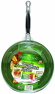 "Telebrands Orgreenic Frying Pan Skillet, 10"" Inch, Nonstick Cookware, New"