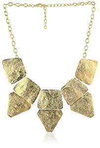 Panacea Textured Square and Triangle Necklace, 18""