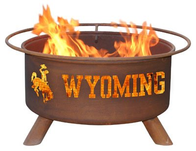 University of Wyoming Cowboys Patina Fire Pit