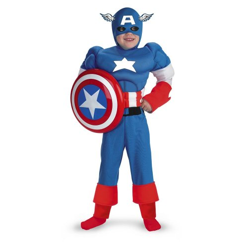 Captain America Muscle - Size: Child M(7-8) (1940 Captain America compare prices)