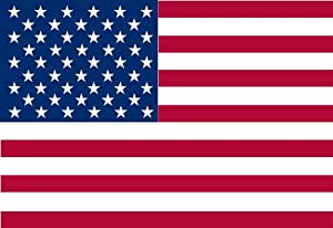 America's Flag Company US4X6NUSA5 4-Foot by 6-Foot Nylon Indoor United States Flag Sewn Stripes and Embroidered Stars Pole Header and Leather Tabs
