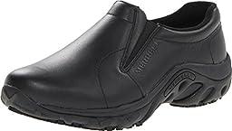 Merrell Women\'s Jungle Moc Pro Grip Slip-Resistant Work Shoe,Black,10 M US