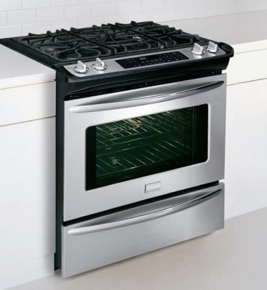 "Frigidaire Fgds3065Kf 30"" Slide-In Dual-Fuel Range With Quick Preheat And True Convection, Stainless Steel"