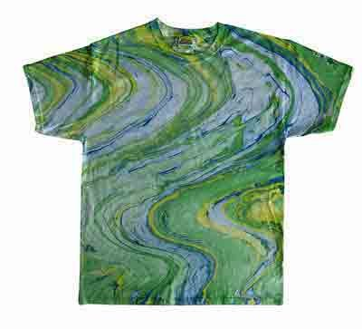Tie Dye MARBLE LIME Retro Vintage Groovy Youth Kids Tee Shirt T-Shirt