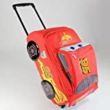 Disney Pixar Cars 2 Rolling Lightning McQueen Luggage Suitcase Race Car