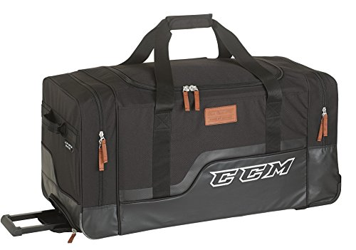 CCM 280 PLAYER DELUXE WHEELED BAG Black 33 (Wheeled Hockey Bag compare prices)