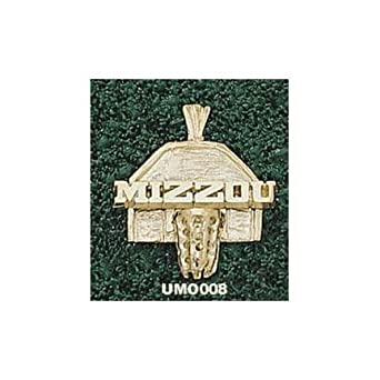 Missouri Tigers Mizzou Basketball Backboard Pendant - 14KT Gold Jewelry by Logo Art