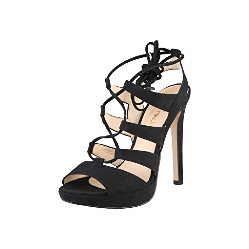 Made In Italia - Flaminia - Sandali punta aperta con tacco alto - Donna (40 IT) (Nero)