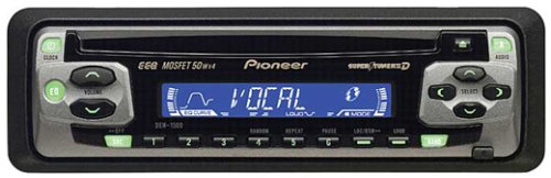 Wiring Diagram Pioneer Eeq Mosfet 50wx4 : Pioneer car cd player deh mosfet wx super tuner
