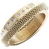 Skagen Designs UK Damen-Ring Edelstahl Swarovski-Kristall