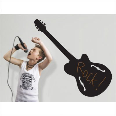 Rock Star Chalkboard Peel and Stick Wall Decal