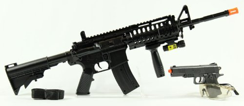 YIKA Spring M16 Assault Rifle  LASER AND FLASHLIGHT,