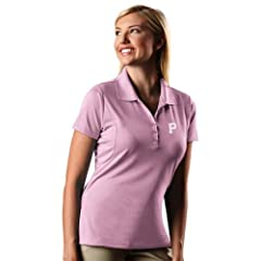 Pittsburgh Pirates Ladies Pique Xtra Lite Polo Shirt (Pink) by Antigua