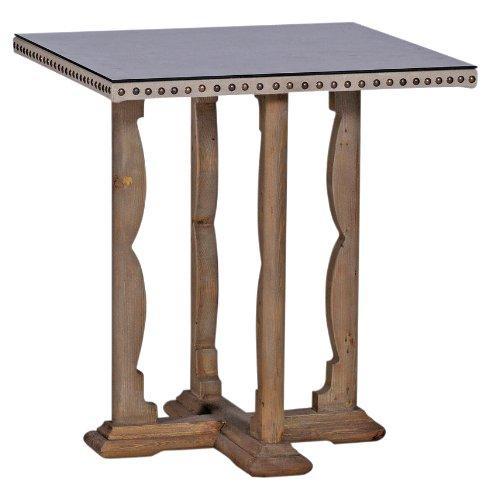 Cheap Morello Rustic Linen Covered Nail Head End Table (SCH-150230)