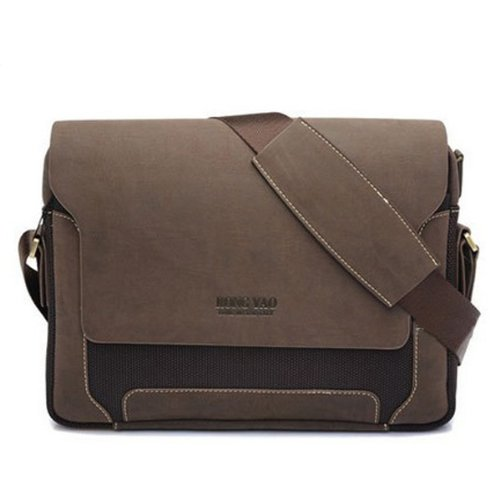Learn More About Mens Canvas Pu Shoulder Bag Handbags Briefcase for the Office Messenger Bag/Large E...