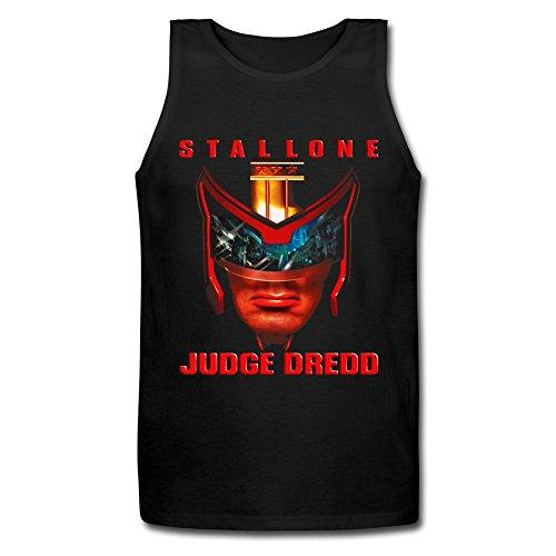 LianJian Judge Dredd Poster Men's T-Shirt Medium Black Tank Top