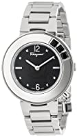Salvatore Ferragamo Women's F64SBQ99909 S099 Gancino Sparkling Silver/Black Stainless Steel Watch by Salvatore Ferragamo