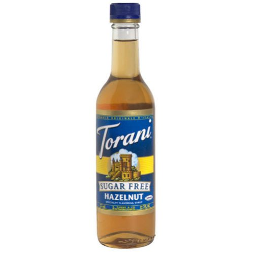 Torani Sugar Free Hazelnut Coffee Syrup Mix, 12.7 Ounce -- 6 per case.