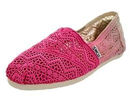 Toms Women\'s Dyed Classics Fuchsia Dip Casual Shoe 10 Women US