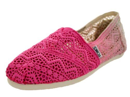 Women's Toms 'Classic' Crochet Slip-On, Size 5 M - Black