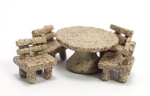 Vintage Marbled Table Set Chairs Miniatures Furniture Ceramic Dollhouse set 5 pcs. (Disney Ceramic Knobs compare prices)