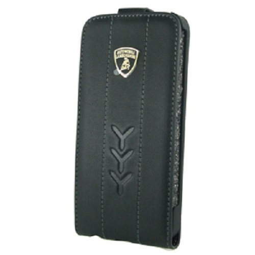 Great Sale MOBO LB-FCIP5-PED1-BK Original Lamborghini Case for iPhone 5 - 1 Pack - Retail Packaging - Black