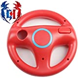 Gamer's House Steer Wheel for Nintendo Wii Racing Games Mario Kart, GT Pro, Color China Red