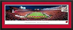 Wisconsin Badgers - Camp Randall Stadium - End Zone - Framed Poster Print by Laminated Visuals