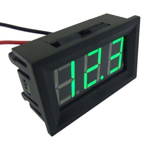 Smakn® 3 Wires Green Dc 0-30V Led Panel Digital Display Voltage Meter Voltmeter