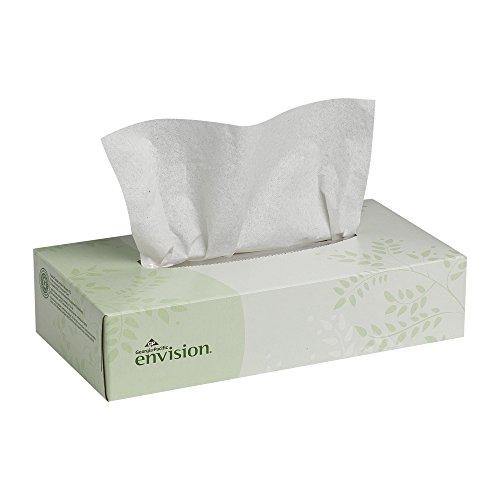 Georgia-Pacific Envision 47410 White 2-Ply Facial Tissue, Flat Box, 8.33