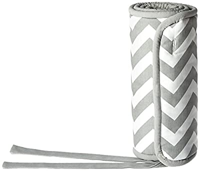 New Arrivals Zig Zag Baby Railcover - Gray & White