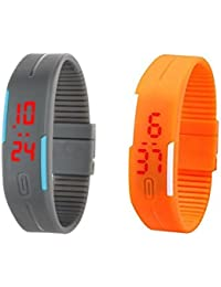 Fusine™ (set Of 10) Multi-Color Wrist Watch With Digital LED Display Suitable For Men, Women, Kids( Colors As...