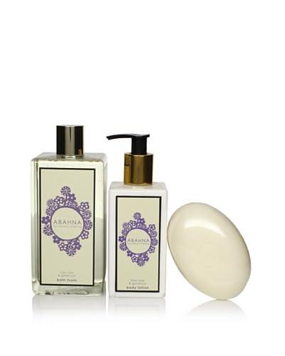 Abahna Relaxing Lilac Rose & Geranium 3-Piece Luxury Bath Set