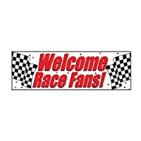 """Welcome Race Fans Giant Banner 60"""" x 20"""" from Creative Converting"""