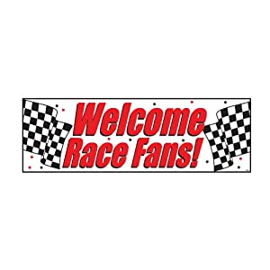 "Welcome Race Fans Giant Banner 60"" x 20"" from Creative Converting"
