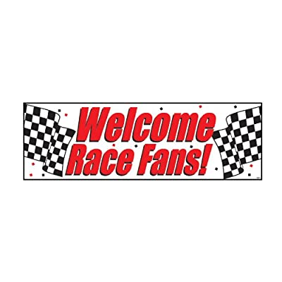 "Welcome Race Fans Giant Banner 60"" x 20"""