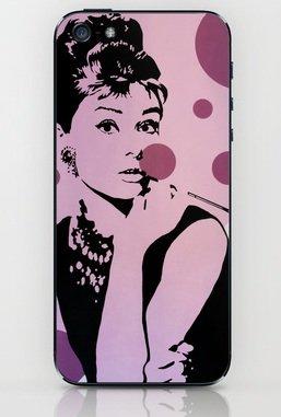 並行輸入品オードリー・ヘップバーン society6 iphone 6/6plusステッカー (iphone 6plus, Audrey6)