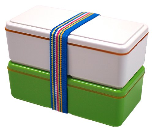 Gel-Cool Earth 2-tier Japanese Bento Box Forest (Green)
