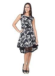 CJ15 Black Sleeveless Satin Dress For Women
