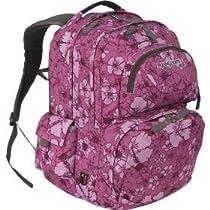 JanSport Firewire Backpack (Purple Satin Hibiscus Sketch)