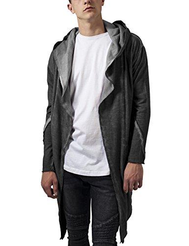 Urban Classics Cold Dye Hooded, Cardigan Uomo, Grau (Darkgrey 94), Medium