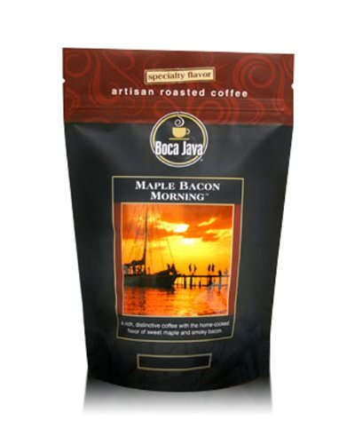 Boca Java Roast to Order, Maple Bacon Morning, Whole Bean, Flavored Direct Trade Coffee, 8 oz. bags (Pack of 2)