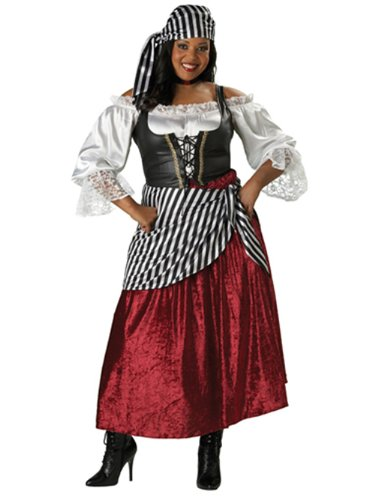 Plus Size Gypsy Wench Pirate Theatre Costumes Renaissance Style