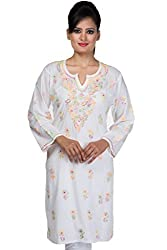 ADA Lucknow Chikan Handmade Designer Ethnic Kurti/Kurta for Women A90627