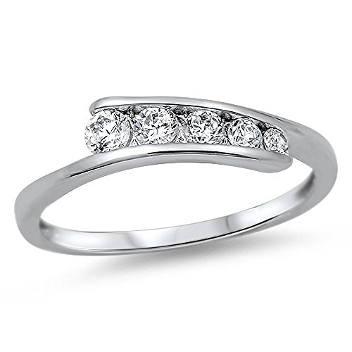 Sterling Silver Cubic Zirconia Ring - Journey Ring