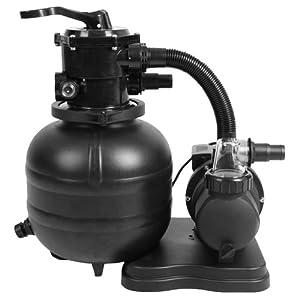 Sandfilterpumpe sandfilteranlage pumpe mit vorfilter 7 for Garten pool mit sandfilter