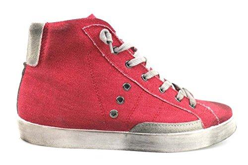 scarpe donna 2 STAR 40 EU sneakers rosso tessuto camoscio AP693